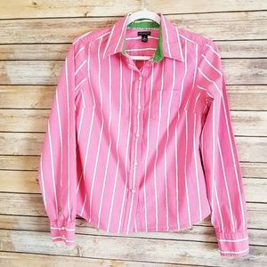American Eagle Girls Pink Striped Shirt Size 8